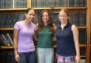 July 2010:  Congratulations Rachel! (l to r, Nathalie, Rachel, and Katie)