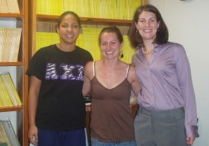 July 2009:  Congratulations Maggie!  (l to r, Nathalie, Rachel, Maggie)